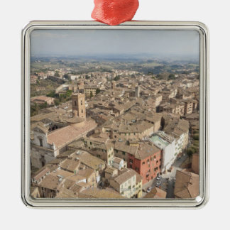 Wide shot of the hill town of Siena Italy Ornament