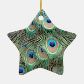 Wide Spreed Of Peacock Eyes Christmas Ornament