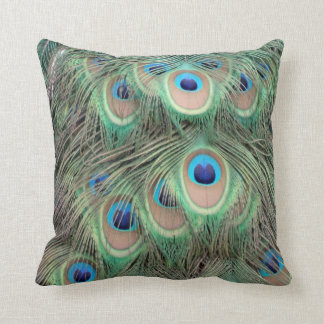 Wide Spreed Of Peacock Eyes Cushion