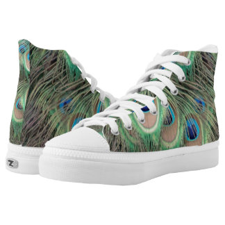 Wide Spreed Of Peacock Eyes High Tops