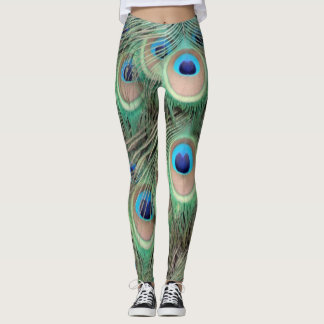 Wide Spreed Of Peacock Eyes Leggings