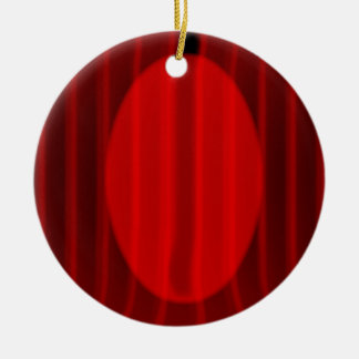 Wide Stage Curtain Spotlight Christmas Ornament