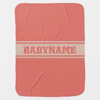 Wide Stripes custom baby blanket