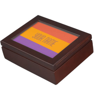 Wide Stripes custom keepsake box