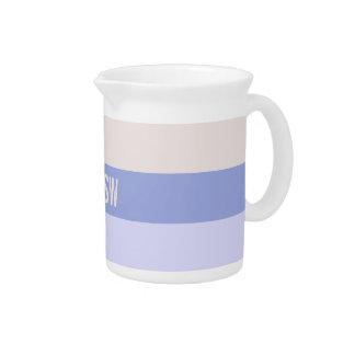 Wide Stripes custom monogram pitcher