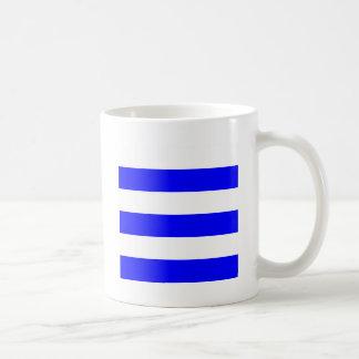 Wide Stripes - White and Blue Mug
