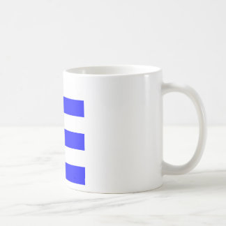 Wide Stripes - White and Blue Coffee Mug