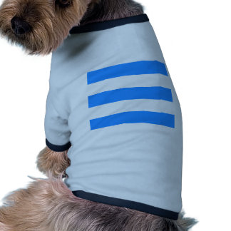 Wide Stripes - White and Dodger Blue Doggie Tee Shirt