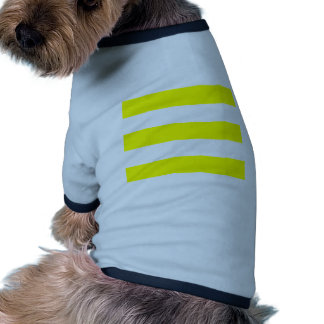 Wide Stripes - White and Yellow Pet Clothes