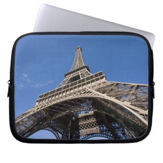 wide view looking up at the Eiffel Tower Laptop Sleeve