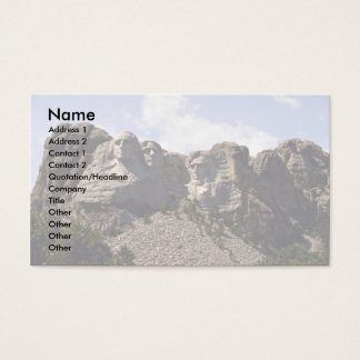 Wide view, Mt. Rushmore, South Dakota Business Card
