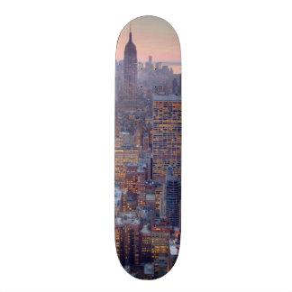 Wide view of Manhattan at sunset 19.7 Cm Skateboard Deck