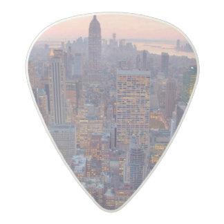 Wide view of Manhattan at sunset Acetal Guitar Pick