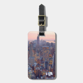 Wide view of Manhattan at sunset Bag Tag