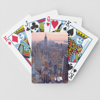Wide view of Manhattan at sunset Bicycle Card Deck
