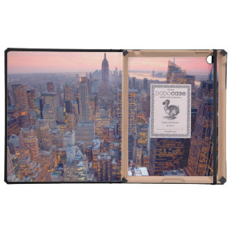 Wide view of Manhattan at sunset Cases For iPad