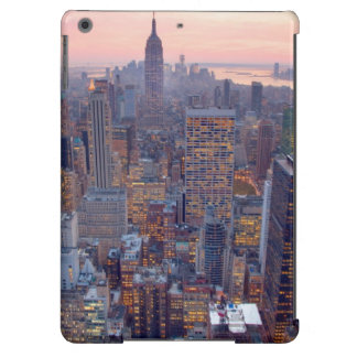 Wide view of Manhattan at sunset iPad Air Cases