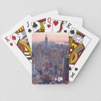 Wide view of Manhattan at sunset Deck Of Cards