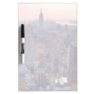 Wide view of Manhattan at sunset Dry Erase Boards
