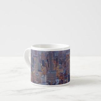 Wide view of Manhattan at sunset Espresso Mug