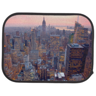 Wide view of Manhattan at sunset Floor Mat