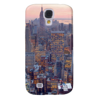 Wide view of Manhattan at sunset Galaxy S4 Case
