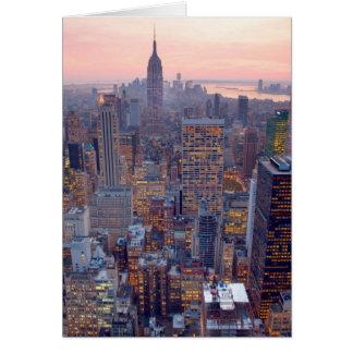 Wide view of Manhattan at sunset Greeting Card