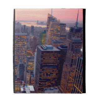 Wide view of Manhattan at sunset iPad Folio Covers