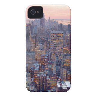 Wide view of Manhattan at sunset iPhone 4 Covers