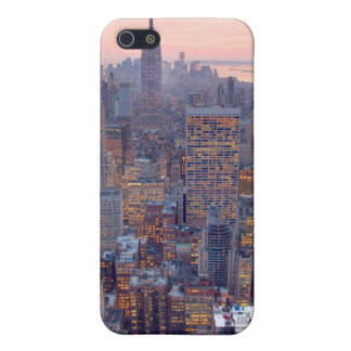 Wide view of Manhattan at sunset iPhone 5/5S Case