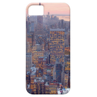 Wide view of Manhattan at sunset iPhone 5 Cases