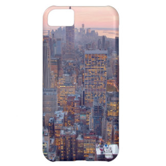 Wide view of Manhattan at sunset iPhone 5C Case