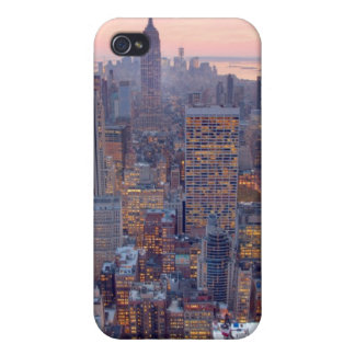 Wide view of Manhattan at sunset Case For The iPhone 4