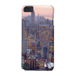 Wide view of Manhattan at sunset iPod Touch (5th Generation) Cover