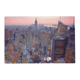 Wide view of Manhattan at sunset Laminated Place Mat