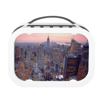 Wide view of Manhattan at sunset Lunch Box