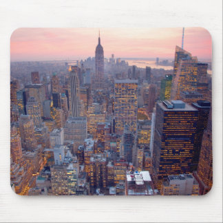 Wide view of Manhattan at sunset Mouse Pad