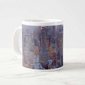 Wide view of Manhattan at sunset Jumbo Mug