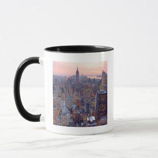 Wide view of Manhattan at sunset Mug