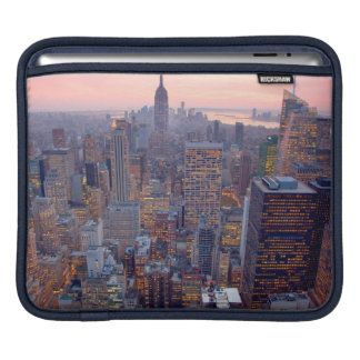 Wide view of Manhattan at sunset Sleeves For iPads