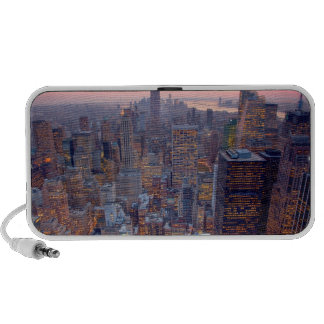 Wide view of Manhattan at sunset Travelling Speakers