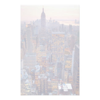Wide view of Manhattan at sunset Stationery Design