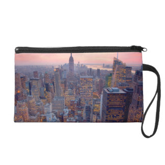 Wide view of Manhattan at sunset Wristlets
