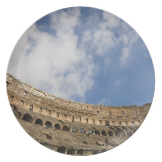 wide view of the interior of the Colosseum Plate