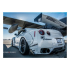 Widebody Nissan GT-R Libertywalk R35 with Poster