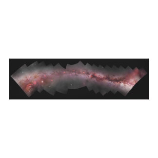 Widefield Milky Way Galaxy Composite Panorama Canvas Print