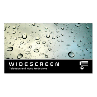 Widescreen 05 Rain on my Window Business Card Templates
