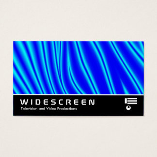 Widescreen 147 - Wavy Blue Business Card