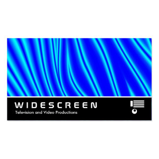 Widescreen 147 - Wavy Blue Pack Of Standard Business Cards