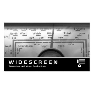 Widescreen 330 - Old UK Radio Dial Pack Of Standard Business Cards